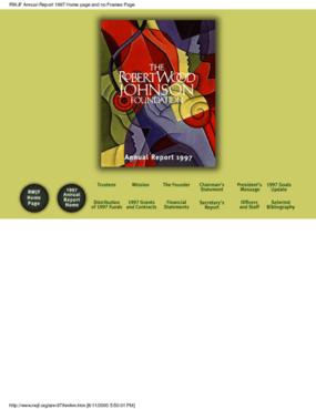 Robert Wood Johnson Foundation - 1997 Annual Report