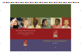 San Angelo Health Foundation - 2005 Annual Report