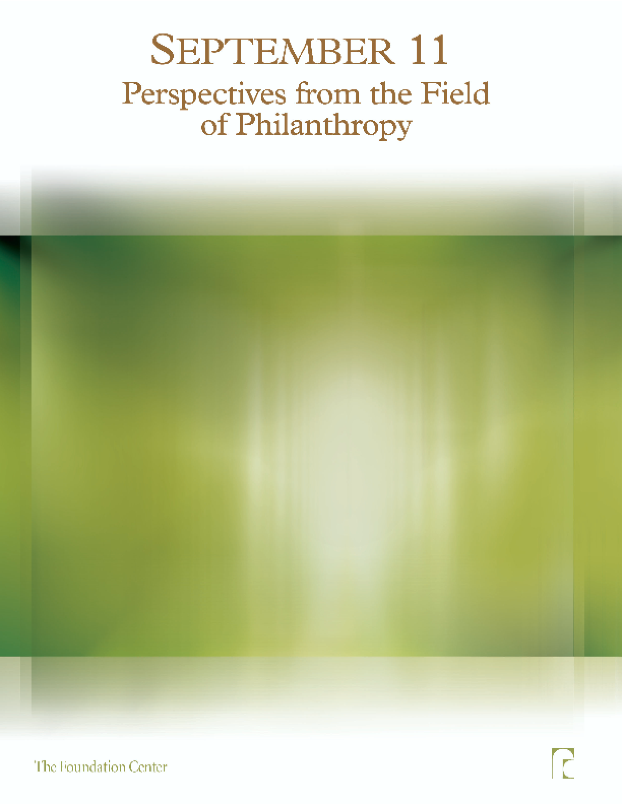 September 11: Perspectives From the Field of Philanthropy