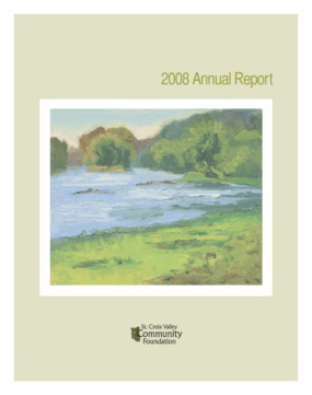 St. Croix Valley Community Foundation - 2008 Annual Report