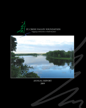 St. Croix Valley Community Foundation - 2009 Annual Report