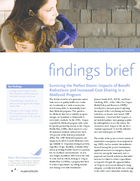 Surviving the Perfect Storm: Impacts of Benefit Reductions and Increased Cost Sharing in a Medicaid Program