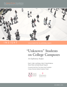 """Unknown"" Students on College Campuses: An Exploratory Analysis"
