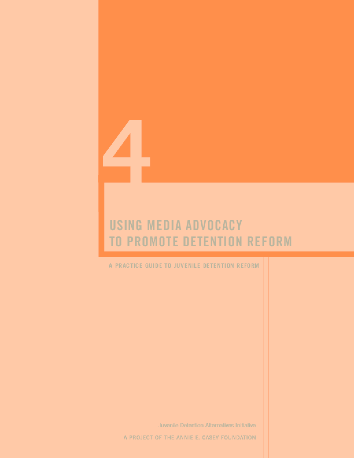 Using Media Advocacy to Promote Detention Reform: A Practice Guide to Juvenile Detention Reform