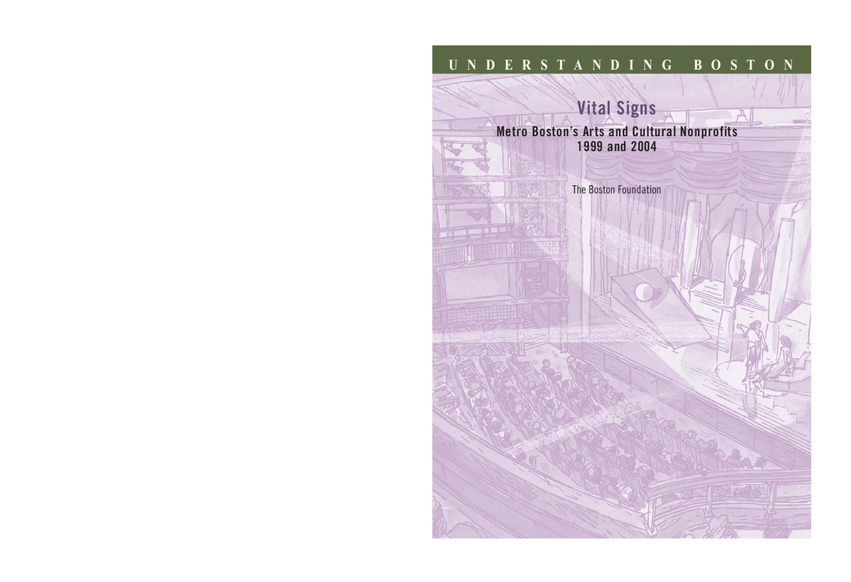 Vital Signs: Metro Boston's Arts and Cultural Nonprofits 1999 and 2004