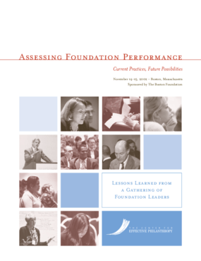 Assessing Foundation Performance: Current Practices, Future Possibilities: Lessons Learned From a Gathering of Foundation Leaders