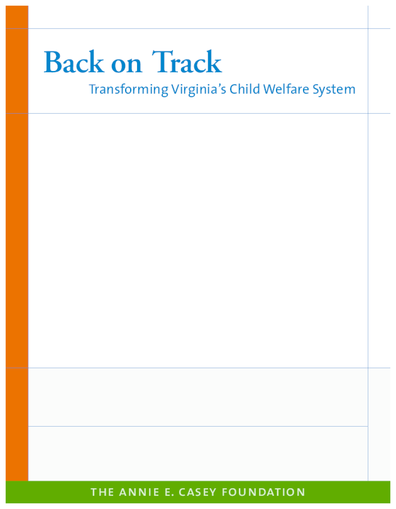 Back on Track: Transforming Virginia's Child Welfare System