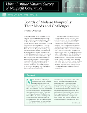 Boards of Midsize Nonprofits: Their Needs and Challenges