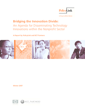 Bridging the Innovation Divide: An Agenda for Disseminating Technology Innovations within the Nonprofit Sector