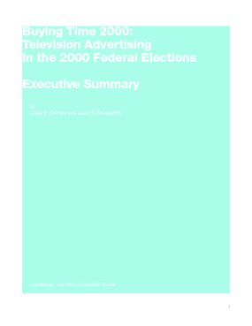 Buying Time 2000: Television Advertising in the 2000 Federal Elections