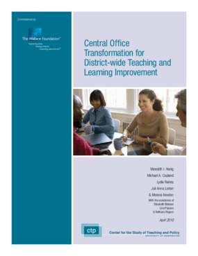 Central Office Transformation for District-Wide Teaching and Learning Improvement