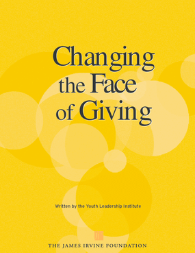 Changing the Face of Giving: An Assessment of Youth Philanthropy