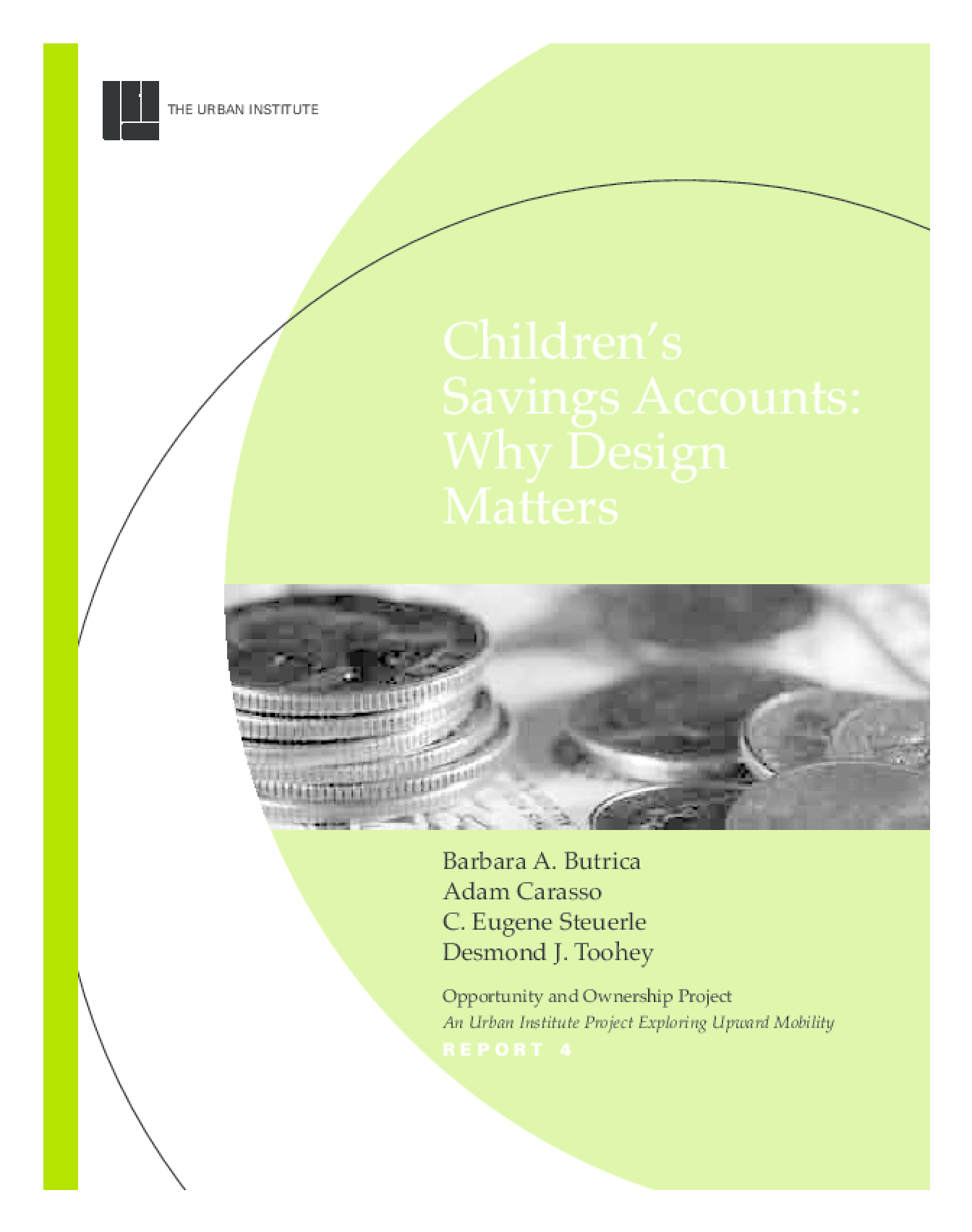Children's Savings Accounts: Why Design Matters