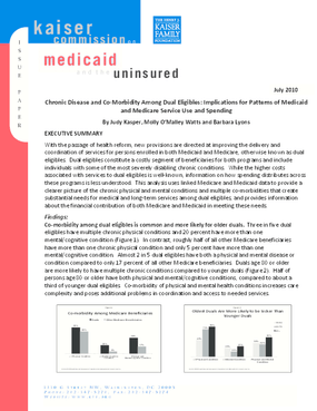 Chronic Disease and Co-Morbidity Among Dual Eligibles: Implications for Patterns of Medicaid and Medicare Service Use and Spending