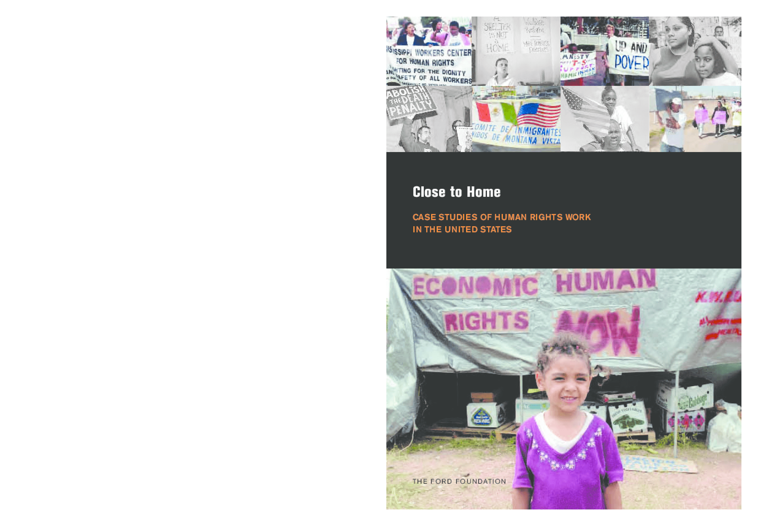 Close to Home: Case Studies of Human Rights Work in the United States