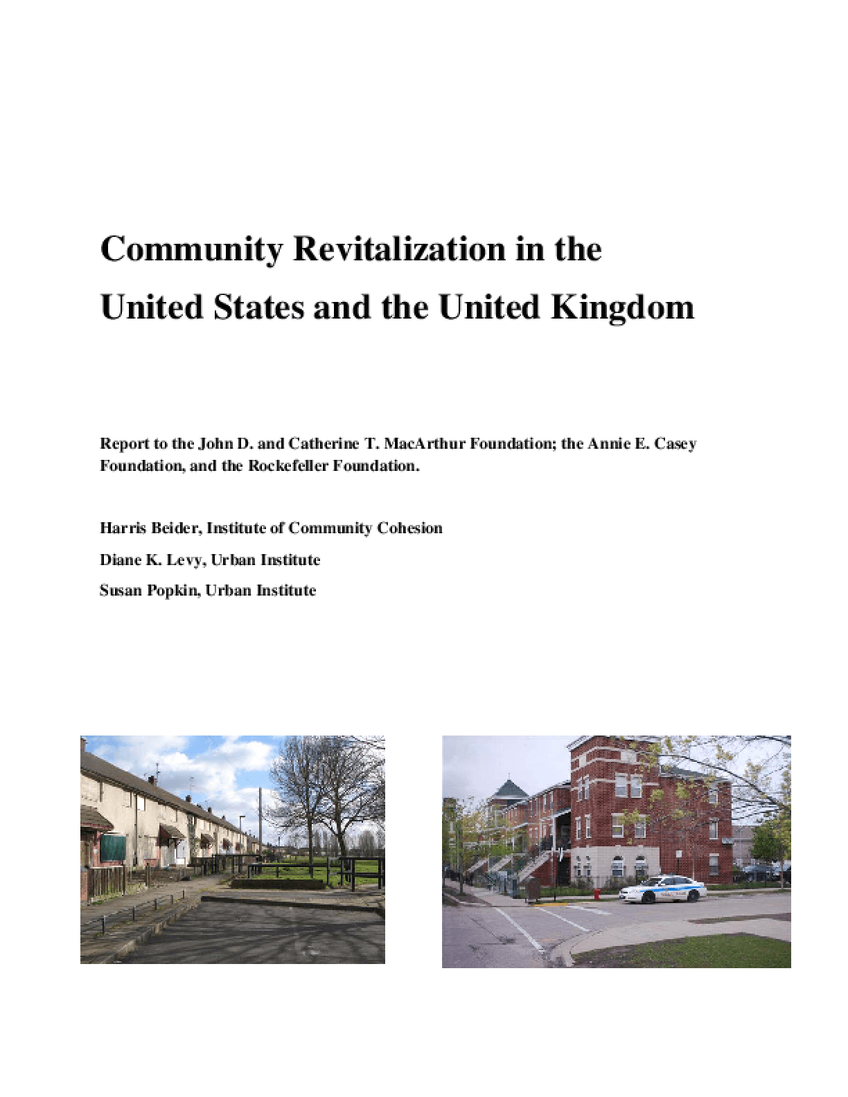 Community Revitalization in the United States and the United Kingdom