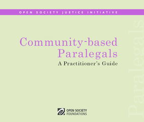 Community-Based Paralegals: A Practitioner's Guide