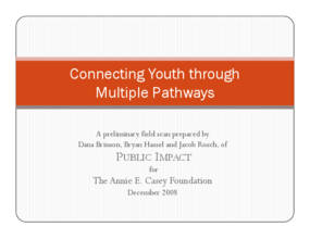 Connecting Youth Through Multiple Pathways