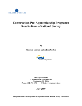 Construction Pre-Apprenticeship Programs: Results From a National Survey
