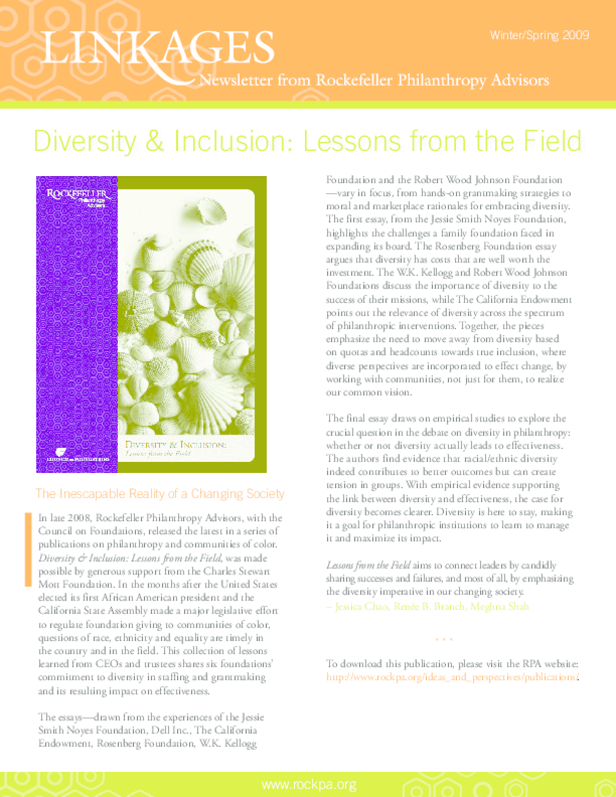 Diversity & Inclusion: Lessons From the Field