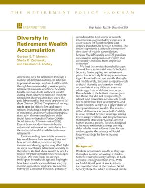 Diversity in Retirement Wealth Accumulation