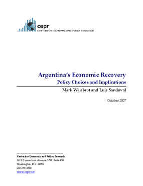 Argentina's Economic Recovery: Policy Choices and Implications