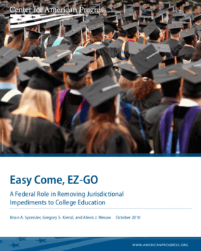 Easy Come, EZ-GO: A Federal Role in Removing Jurisdictional Impediments to College Education