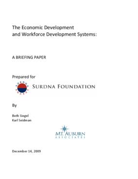 The Economic Development and Workforce Development Systems