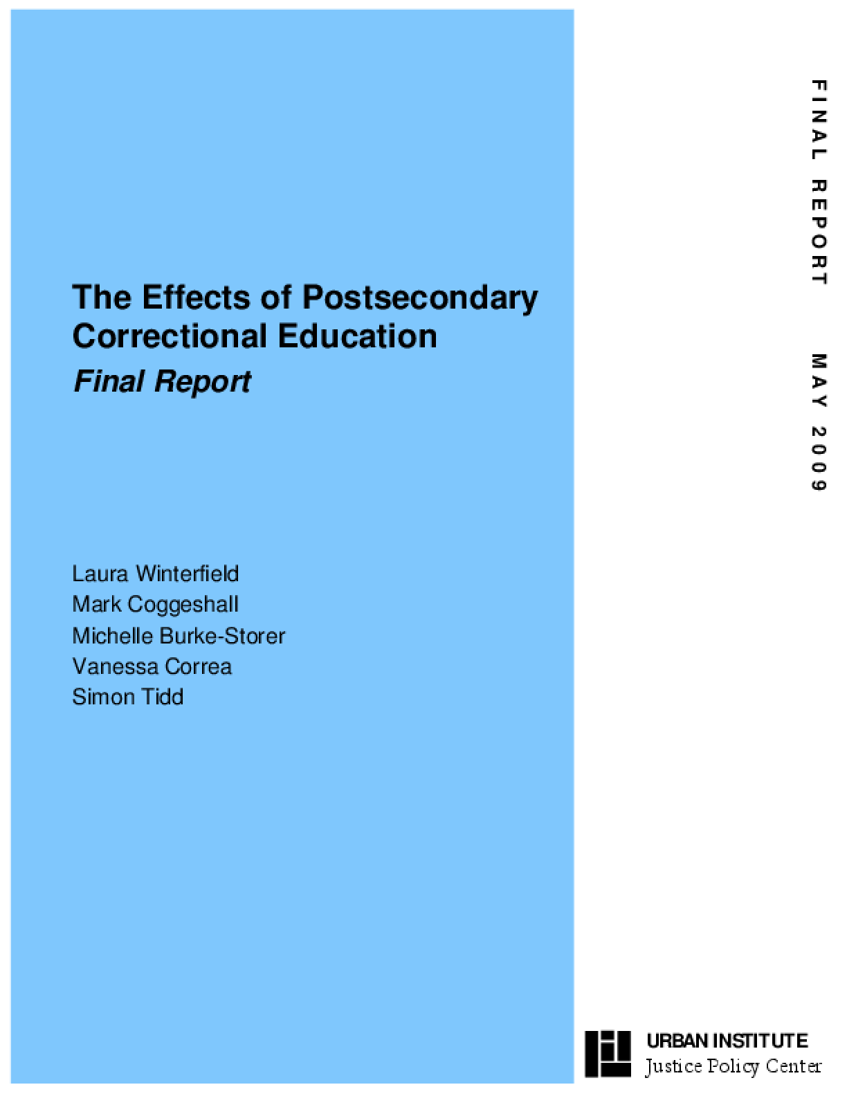 The Effects of Postsecondary Correctional Education
