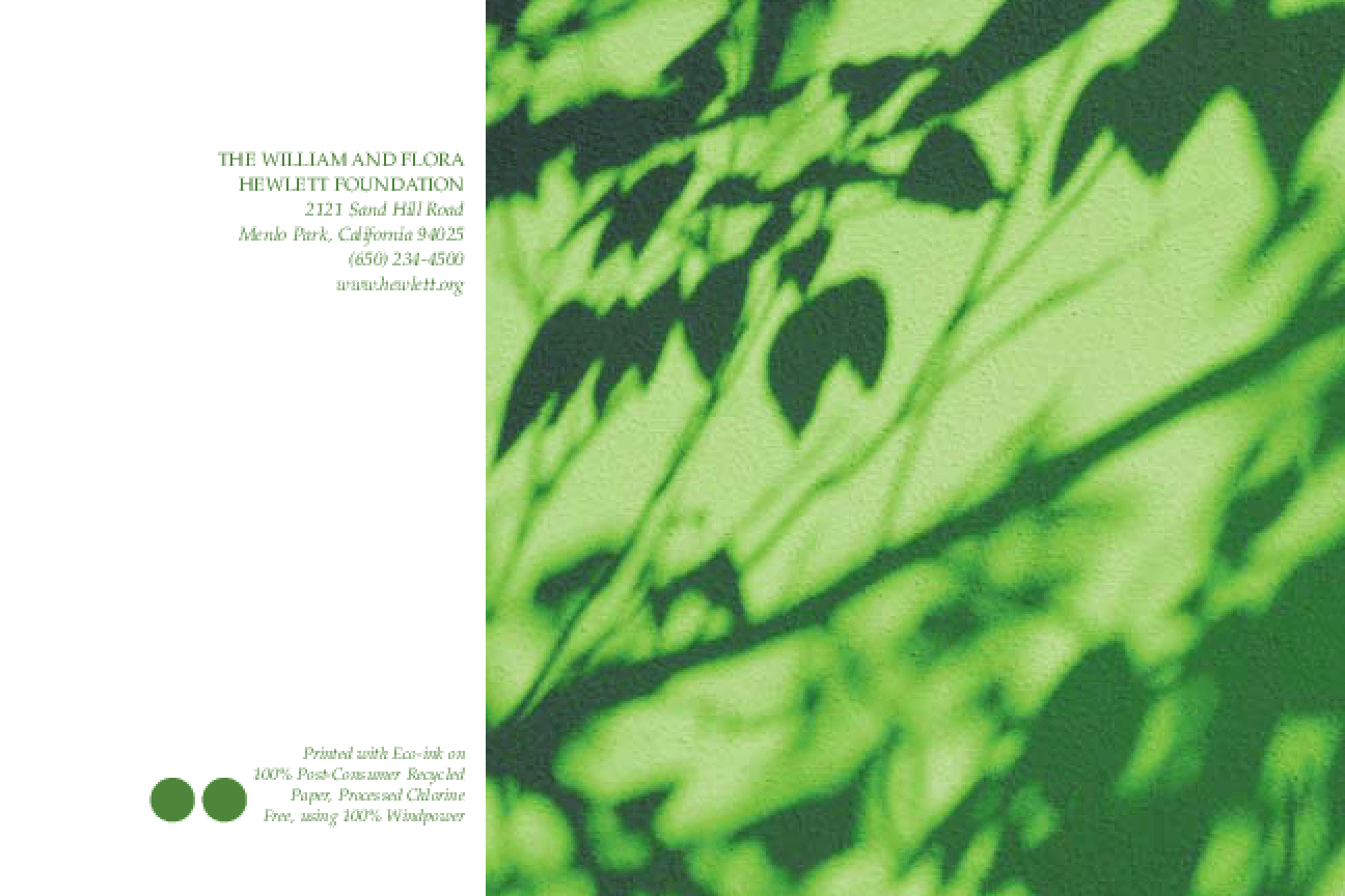 Environmental Conflict Resolution: Strategies for Environmental Grantmakers