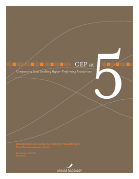 CEP at 5: Comparative Data Enabling Higher-Performing Foundations