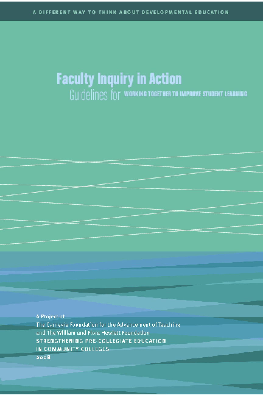 Faculty Inquiry in Action: Guidelines for Working Together to Improve Student Learning