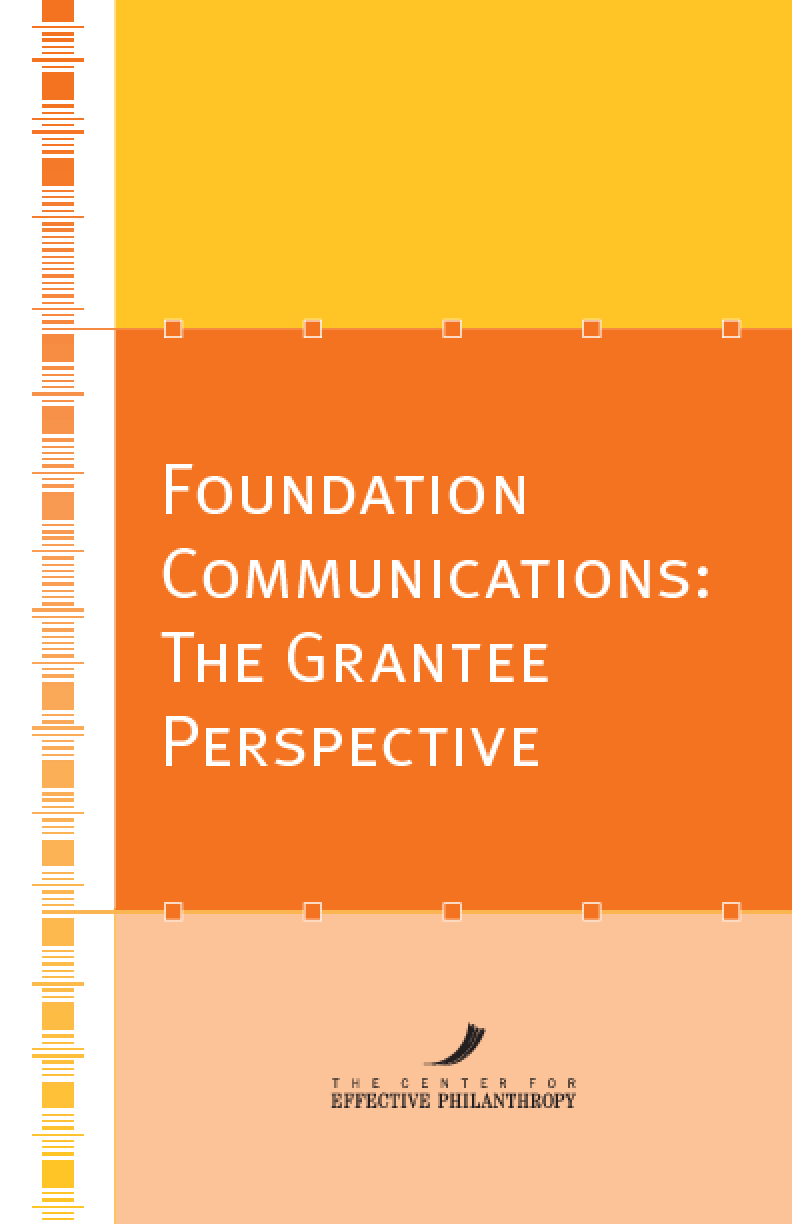 Foundation Communications: The Grantee Perspective