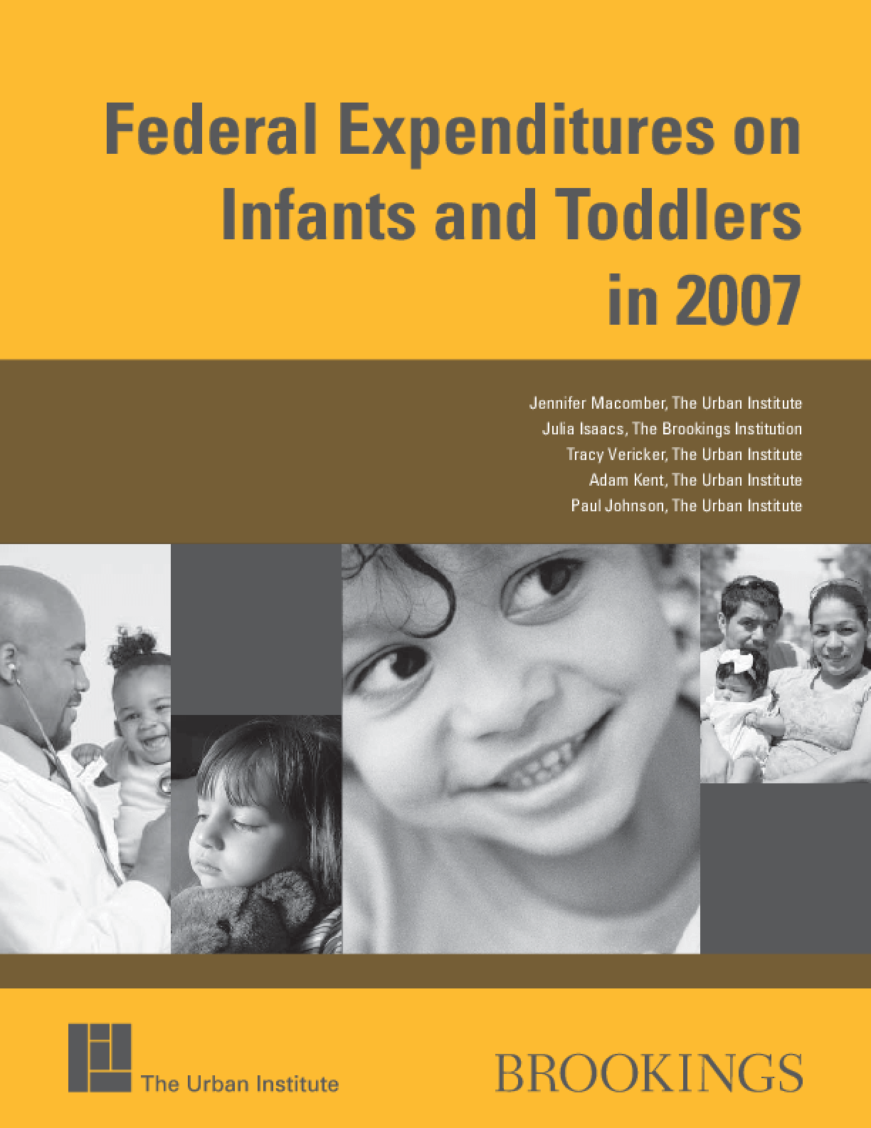 Federal Expenditures on Infants and Toddlers in 2007