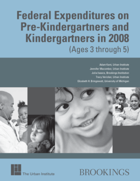 Federal Expenditures on Pre-Kindergarteners and Kindergarteners in 2008 (Ages 3 through 5)