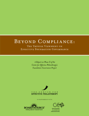 Beyond Compliance: The Trustee Viewpoint on Effective Foundation Governance