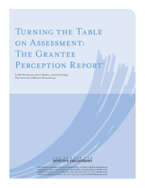 Turning the Table on Assessment: The Grantee Perception Report