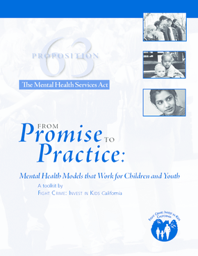 From Promise to Practice: Mental Health Models That Work for Children and Youth