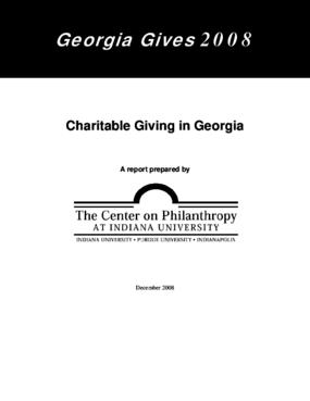 Georgia Gives 2008: Charitable Giving in Georgia