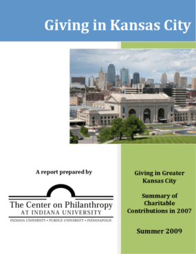 Giving in Greater Kansas City: Summary of Charitable Contributions in 2007