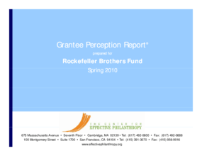 Grantee Perception Report 2010: Rockefeller Brothers Fund