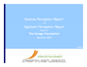 Grantee Perception Report and Applicant Perception Report: Kresge Foundation