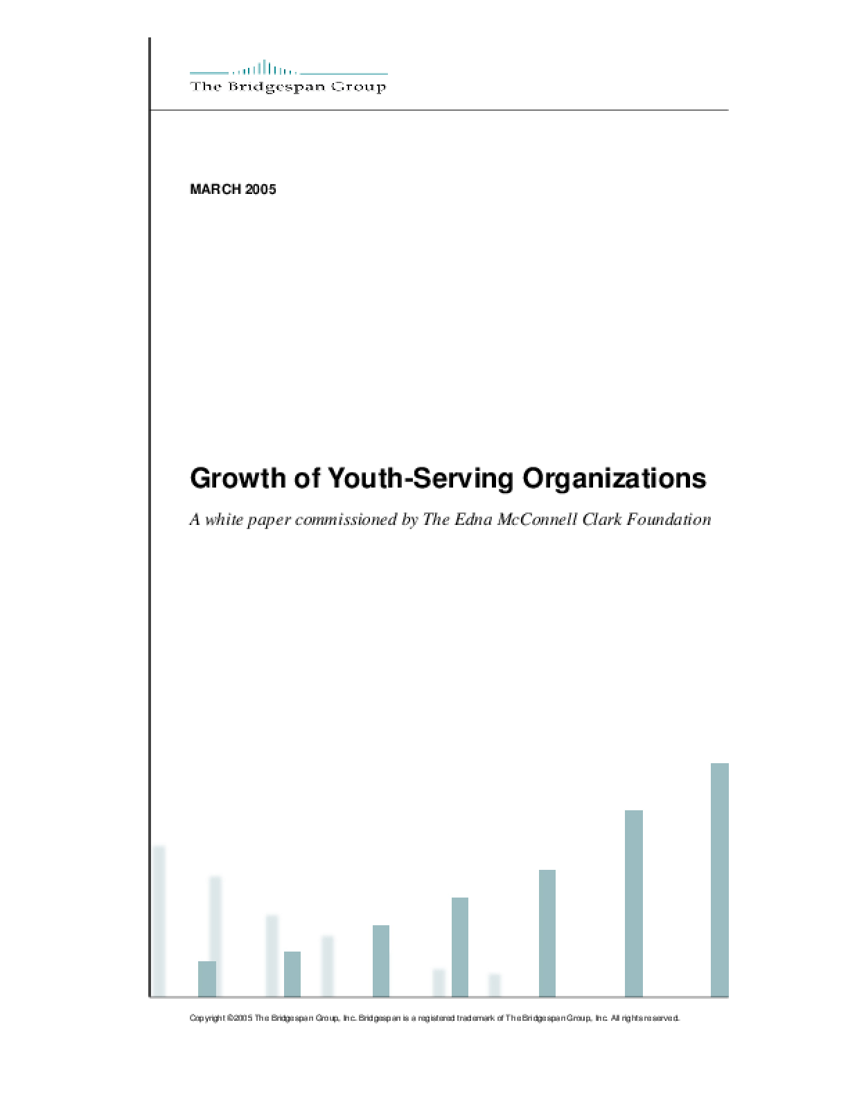 Growth of Youth-Serving Organizations
