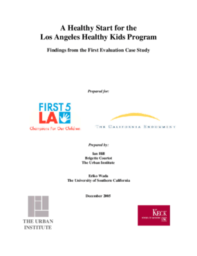 A Healthy Start for the Los Angeles Healthy Kids Program: Findings From the First Evaluation Site Visit