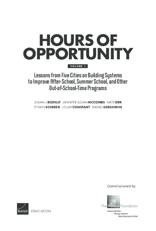 Hours of Opportunity: Volumes I, II and III