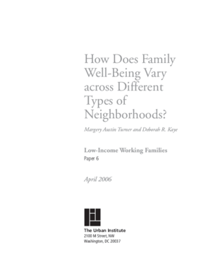 How Does Family Well-Being Vary Across Different Types of Neighborhoods?
