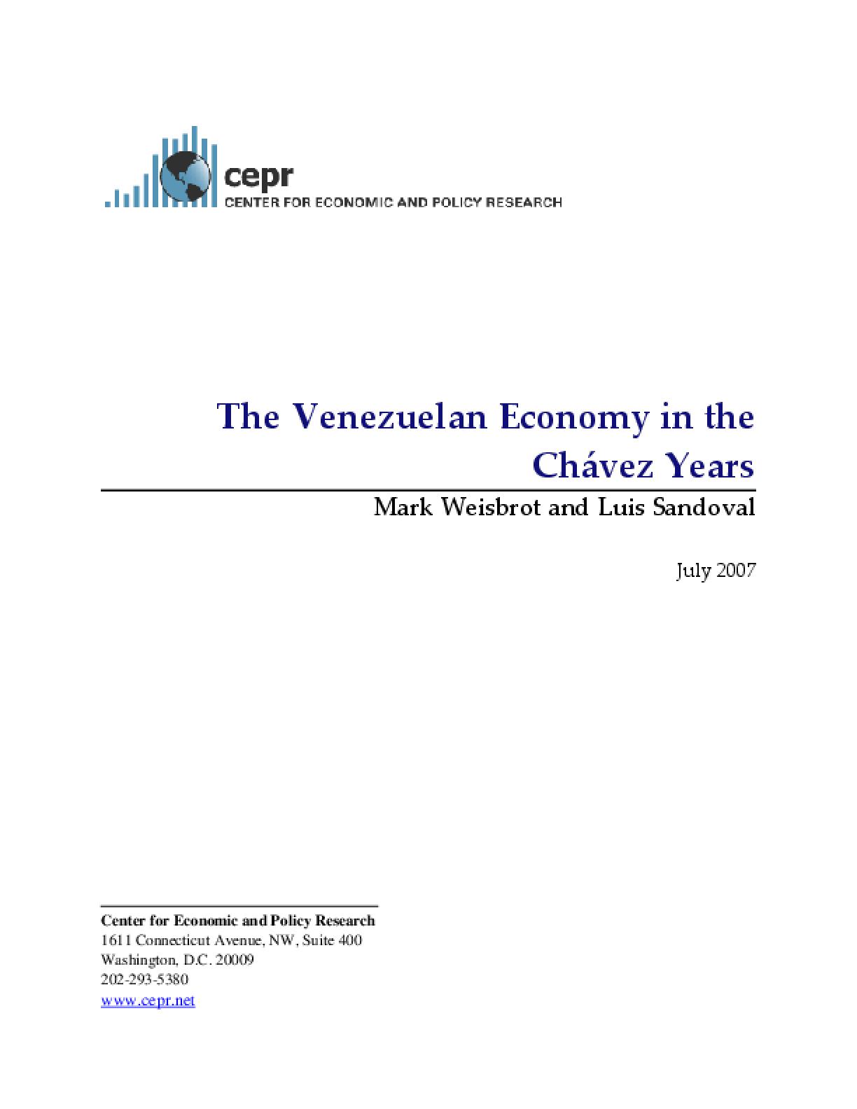The Venezuelan Economy in the Chavez Years