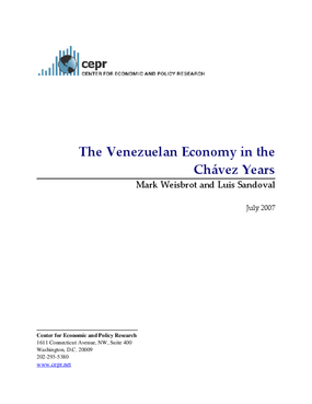 The Venezuelan Economy in the Chavez Years