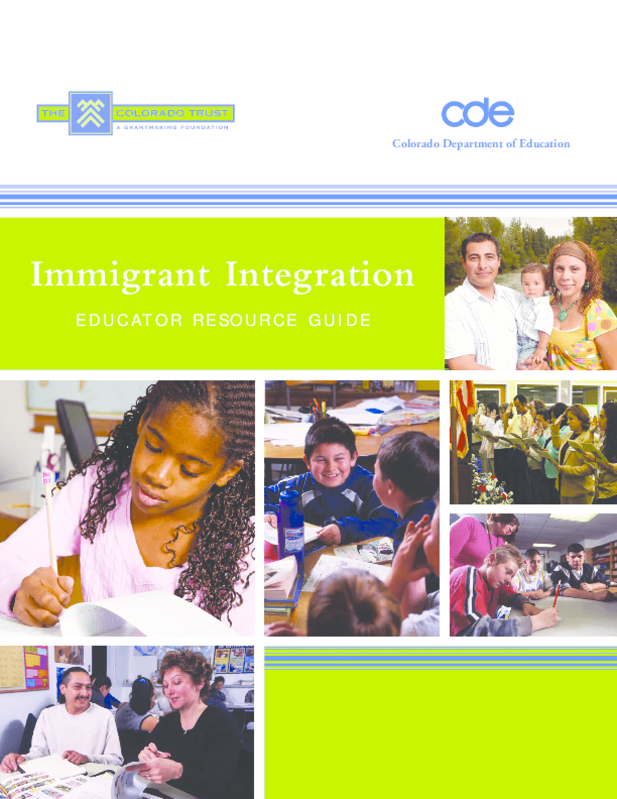 Immigrant Integration: Educator Resource Guide