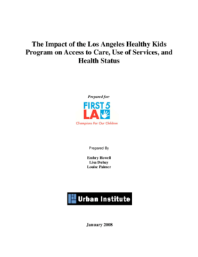 The Impact of the Los Angeles Healthy Kids Program on Access to Care, Use of Services, and Health Status